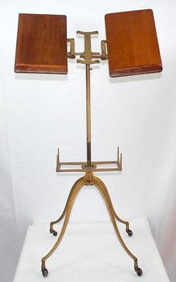 Antique c.1890 Victorian Oak & Cast Iron Bible Dictionary Book Stand
