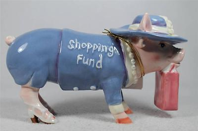 "This Little Piggy by Westland ""Shopping Fund'' Glam Girl Pig Bank #16859 NIB!"