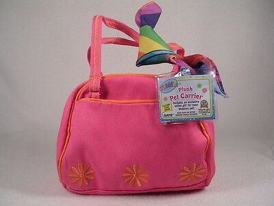 Webkinz 'Plush Pet Carrier' WE000156 Funky Flower Pink New With Code!
