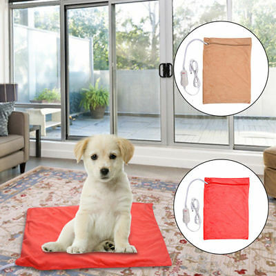 Washable Pet Puppy Electric Heat Heated Heating Pad Blanket Dog Cat Warm Bed Mat