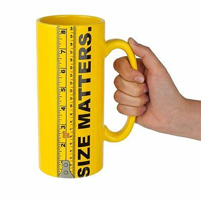 Big Mouth SIZE MATTERS MUG Giant LARGE 900ml CERAMIC with RULER MARKS