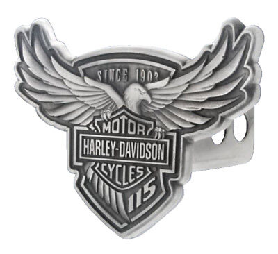 Harley-Davidson 115th Anniversary Trailer Hitch Cover, Engraved 2 Inch HDHC115