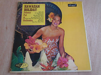 Johnny Poi & Orchestra: Hawaiian Holiday LP (Allegro) 1964