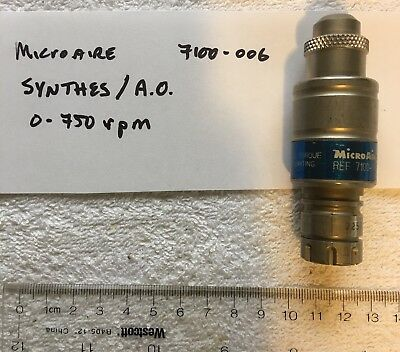 Microaire 7100-006 Synthes/A.O. Drive Coupler 0-750 rpm use w 7500 Drill Reamer