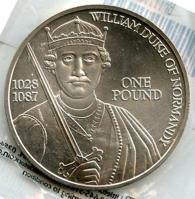 Guernsey 2002 William Duke of Normandy .999 Silver Coin - 1 oz bullion - AM554