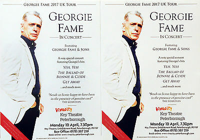 Georgie Fame 2017 Tour Flyers - Georgie Fame And Sons