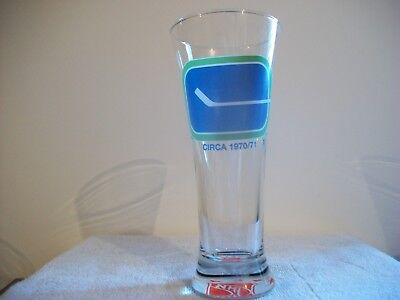 Vintage Logo- Circa 1970/71-- Vancouver Canucks Beer Glass
