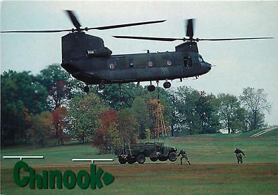 Postcard Chinook Military Transport Helicopter