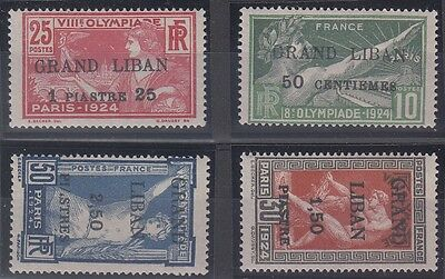 Lebanon Scott 18-21 Mint hinged (Catalog Value $130.00)
