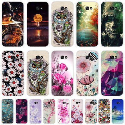 New Colorful Painted Patterned Soft TPU Silicone Rubber Case Cover For Samsung