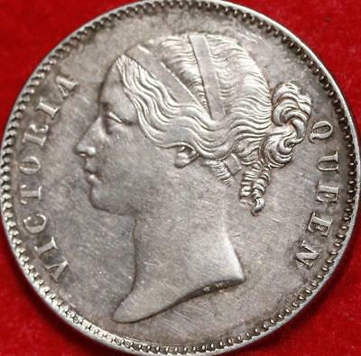 1840 East India Company 1 Rupee Silver Foreign Coin Free S/H