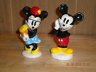 Mickey Mouse & Minnie Mouse Salt/ Pepper Shaker Set
