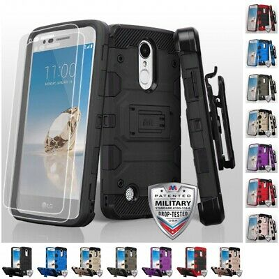 For Lg Rebel 2 L58vl Rugged Tough Full Armor Defender Heavy Duty Case