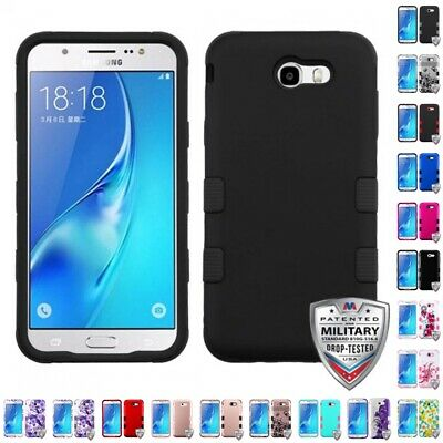Samsung Galaxy J7 Sky Pro Hybrid TUFF IMPACT Phone Case Hard Rugged Cover