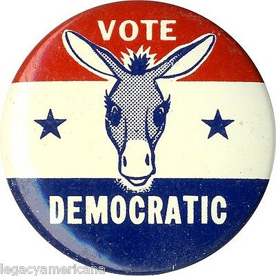 1960 Kennedy Campaign VOTE DEMOCRATIC Vintage Donkey Button (4948)