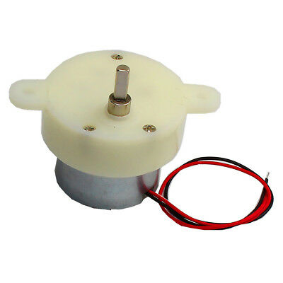 DIY 6V 15RPM Type 30 DC Electric Motor Low Noise D Shaft Low Speed Gearmotor