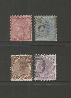 Natal  South Africa ~ 1874-99 Qv Definitives (Part Used Set)