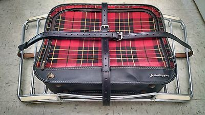 Vintage PORSCHE 356 Leitz Lietz Trunk Rack Leather Luggage Blk Straps Hand Made