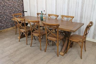 7Ft Handmade Rustic Reclaimed Pine Country Farmhouse Table With Trestle Base