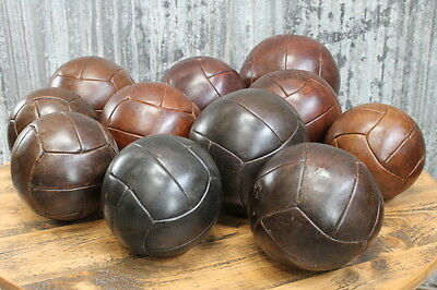 Vintage Medicine Ball Leather Medicine Sports Ball