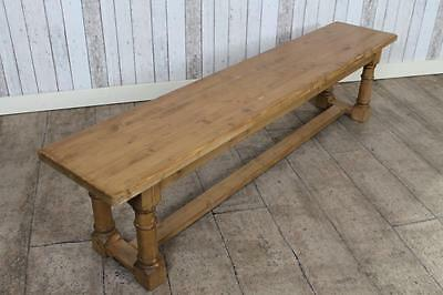 8Ft Handmade Waxed Pine Bench Hall Bench Kitchen Bench Can Be Painted