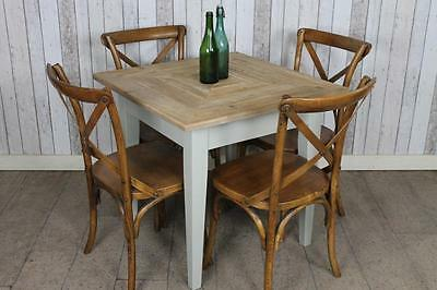 Square Cafe Restaurant Table With Reclaimed Pine Top Made To Order Painted Base