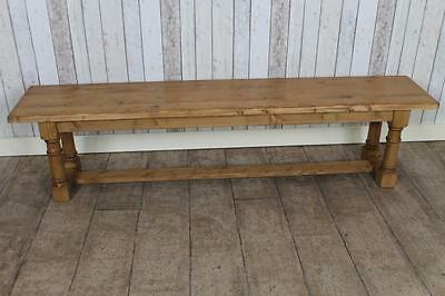 5Ft Pine Dining Bench Hall Bench Kitchen Bench Refectory Style