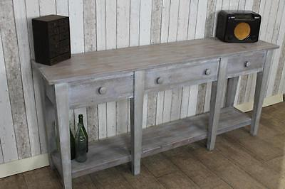 Large Limed Reclaimed Pine 8Ft Sideboard Side Table Handmade To Order The Naples