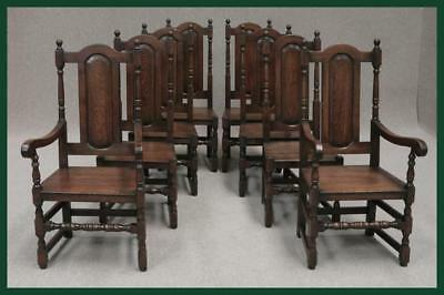 Six (6) Solid Oak Premier Hand Polished Dining Chairs