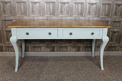 6Ft Reclaimed Pine Dressing Table Sideboard With Painted Base The Florence