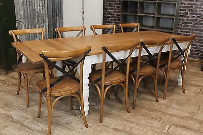 7Ft Farmhouse Extending Kitchen Table Solid Wooden Table Antique Style Bespoke