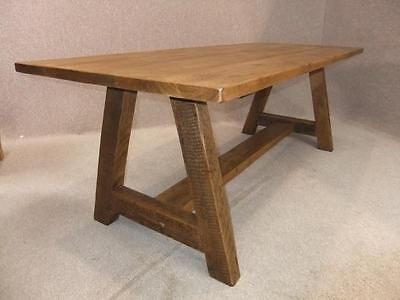 120Cm Handmade A-Frame Rustic Pine Farmhouse Table Available In Other Sizes