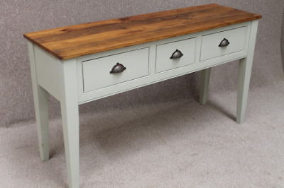 Reclaimed Pine Sideboard Kitchen Unit Farrow & Ball Painted Base Buckland