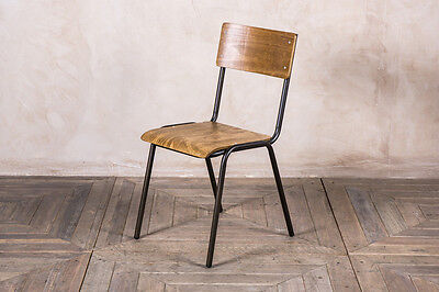 Vintage Style Stacking Chair Stackable Plywood Restaurant Chair Large Quantity