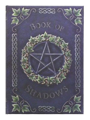 Embossed Book of Shadows Ivy A5 Purple Notebook