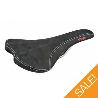 Charge Spoon MTB Cycle Cycling Fixie Bike Seat Saddle - Black/Red - CLEARANCE!