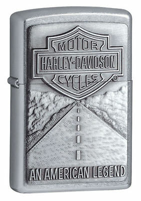 Zippo 20229, Harley Davidson, Emblem, Street Chrome Lighter, Full Size