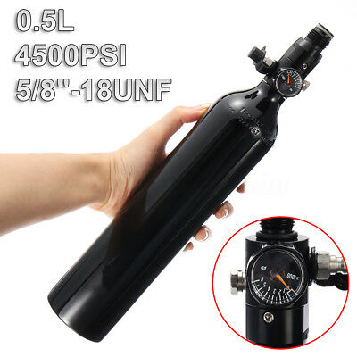 4500psi Paintball PCP Cylinder Tank 0.5L High Compressed Air Bottle W/ Regulator