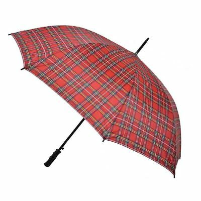 Royal Stewart Tartan Golf Umbrella Auto Open Classic Style Brolly Walking