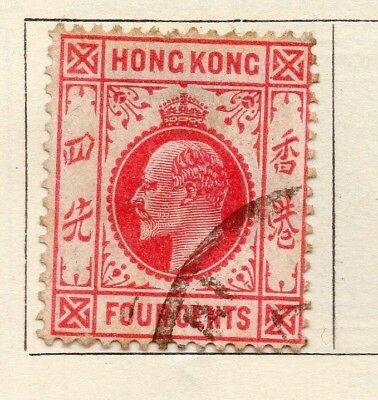 Hong Kong 1910 Early Issue Fine Used 4c. 191463
