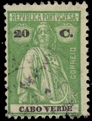 """CAPE VERDE 183H -  Ceres Keyplate """"1920 Printing"""" (pa57582)"""