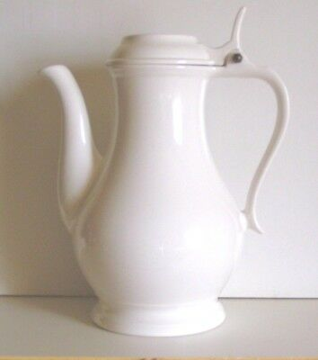 Vintage Red Cliff Ware Porcelain Coffee Carafe White Pitcher New Cond Orig Owner