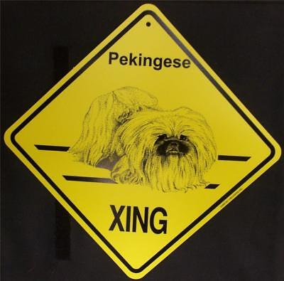 Pekingese Dog Crossing Xing Sign New Made in USA
