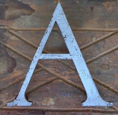 "Reclaimed - Architectural - 8"" Marque Sign Letter - 3/8"" Solid Brass ""a"" 3 Bolts"
