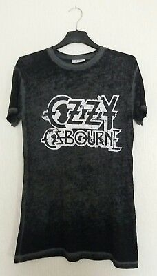 "Vintage Look Ozzy Osbourne Long Tee Shirt - Size 34"" - Official Merchandise"