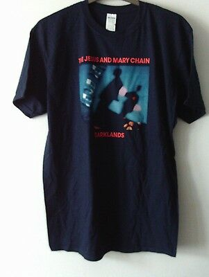 Jesus And Mary Chain Darklands Official T Shirt Mens Xl Chest 46 Inchs Dark Blue