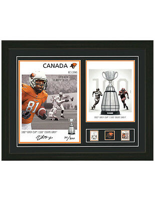 (8) CANADA POST CFL 100th ANNIVERSARY AUTOGRAPH PRINTS. GEORGE REED ....
