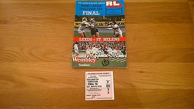 1978 Challenge Cup final Leeds v St Helens + Match ticket