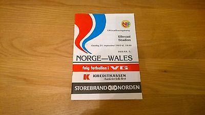 1983 Norway v Wales