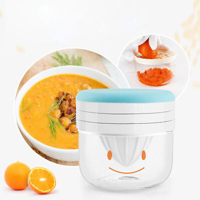 Manual Baby Infant FoodFruit Vegetable Grinder Bowl Mill Blender Maker Home Tool
